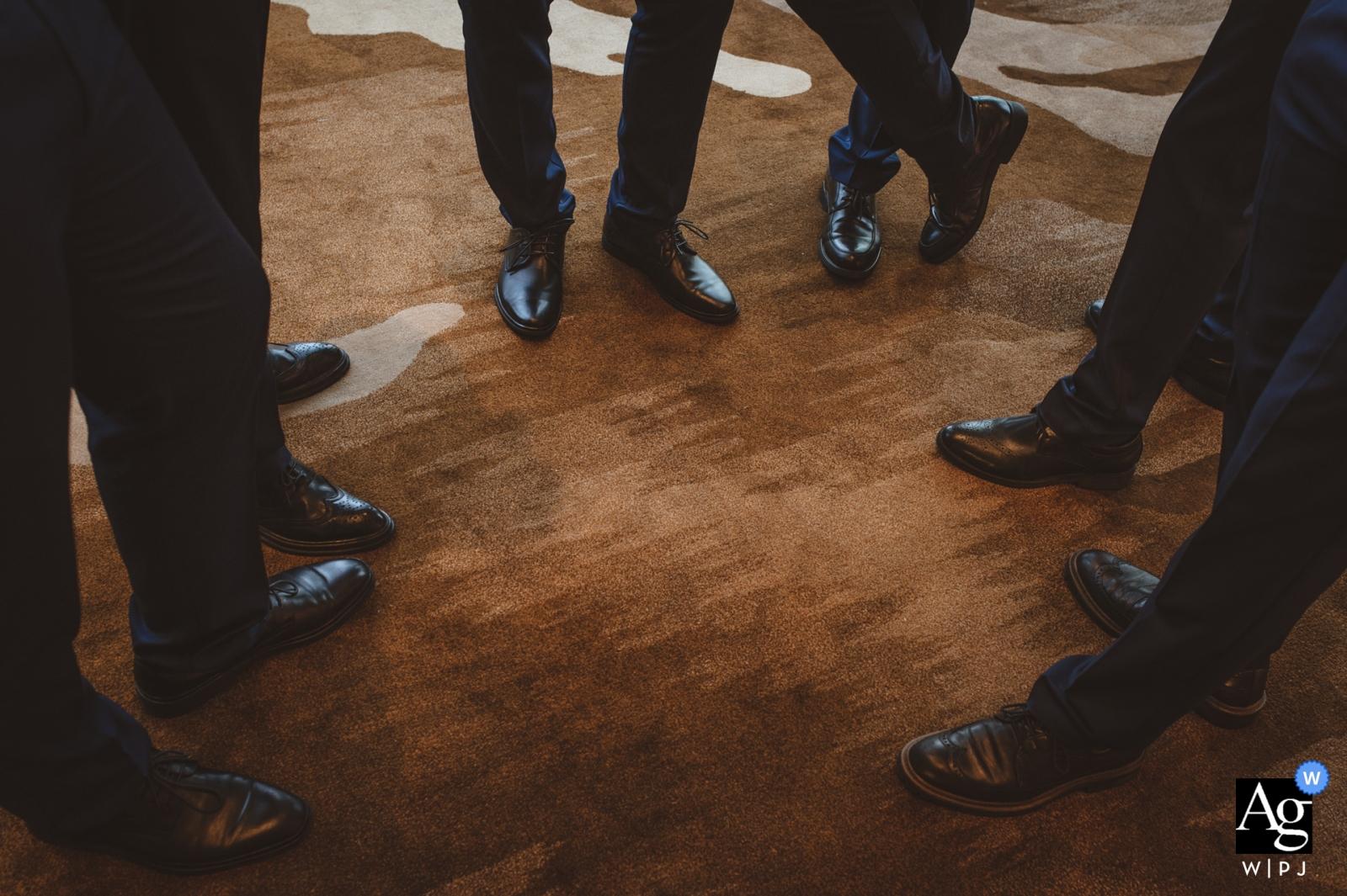 Hunan wedding artistic creative photography detail of men's feet