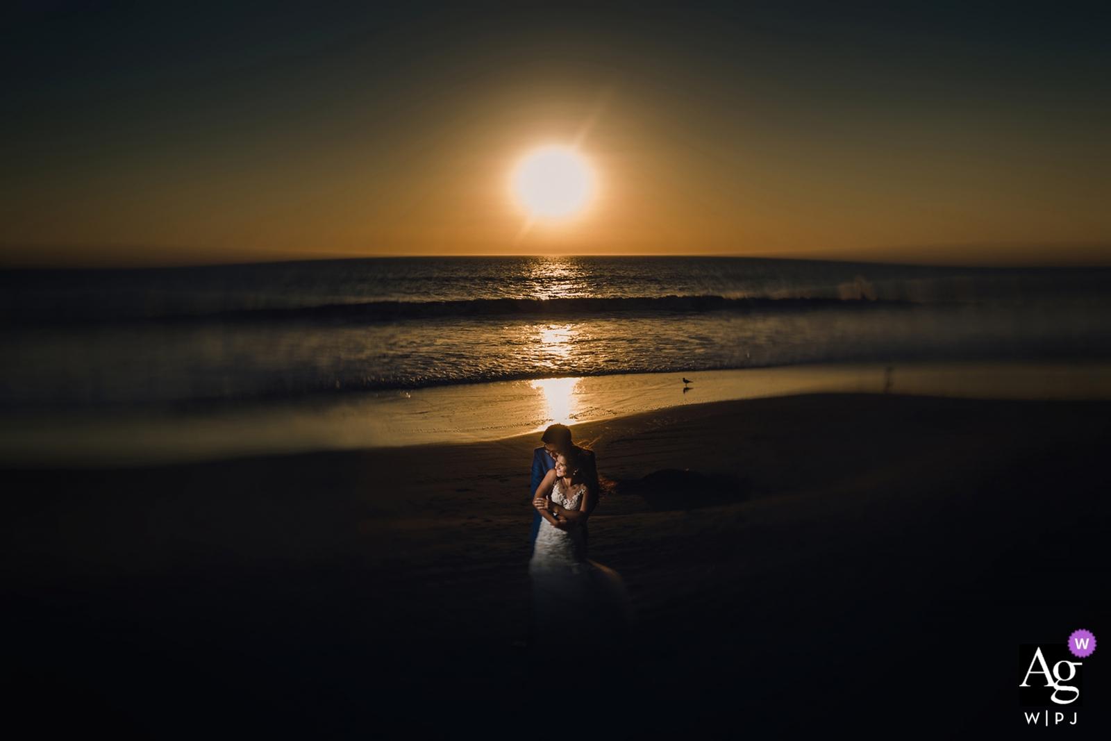 fotografia ślubna portret panny młodej i pana młodego w Limie, Peru