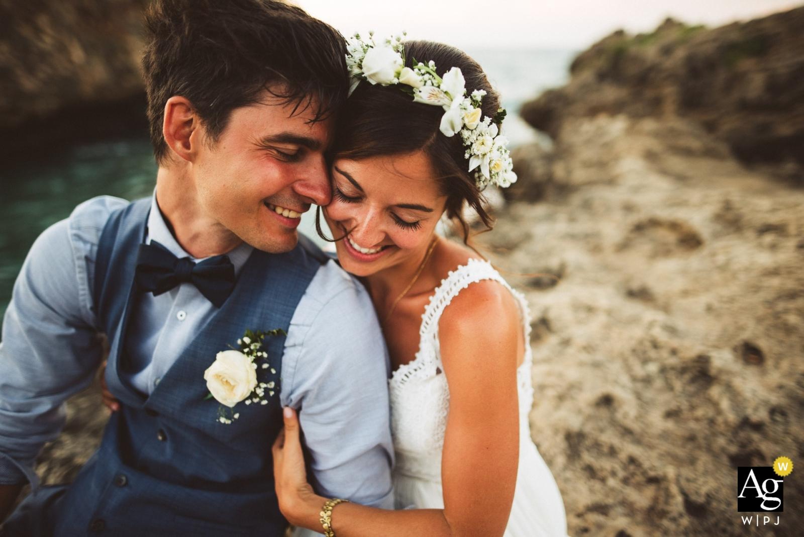 Séance photo de portrait en Slovénie des mariés