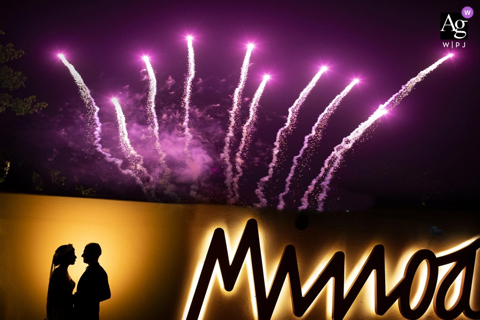 Marsala Hochzeitsfotografie und Portraits   Sizilien-Empfang in Minoa Restaurant mit Feuerwerk
