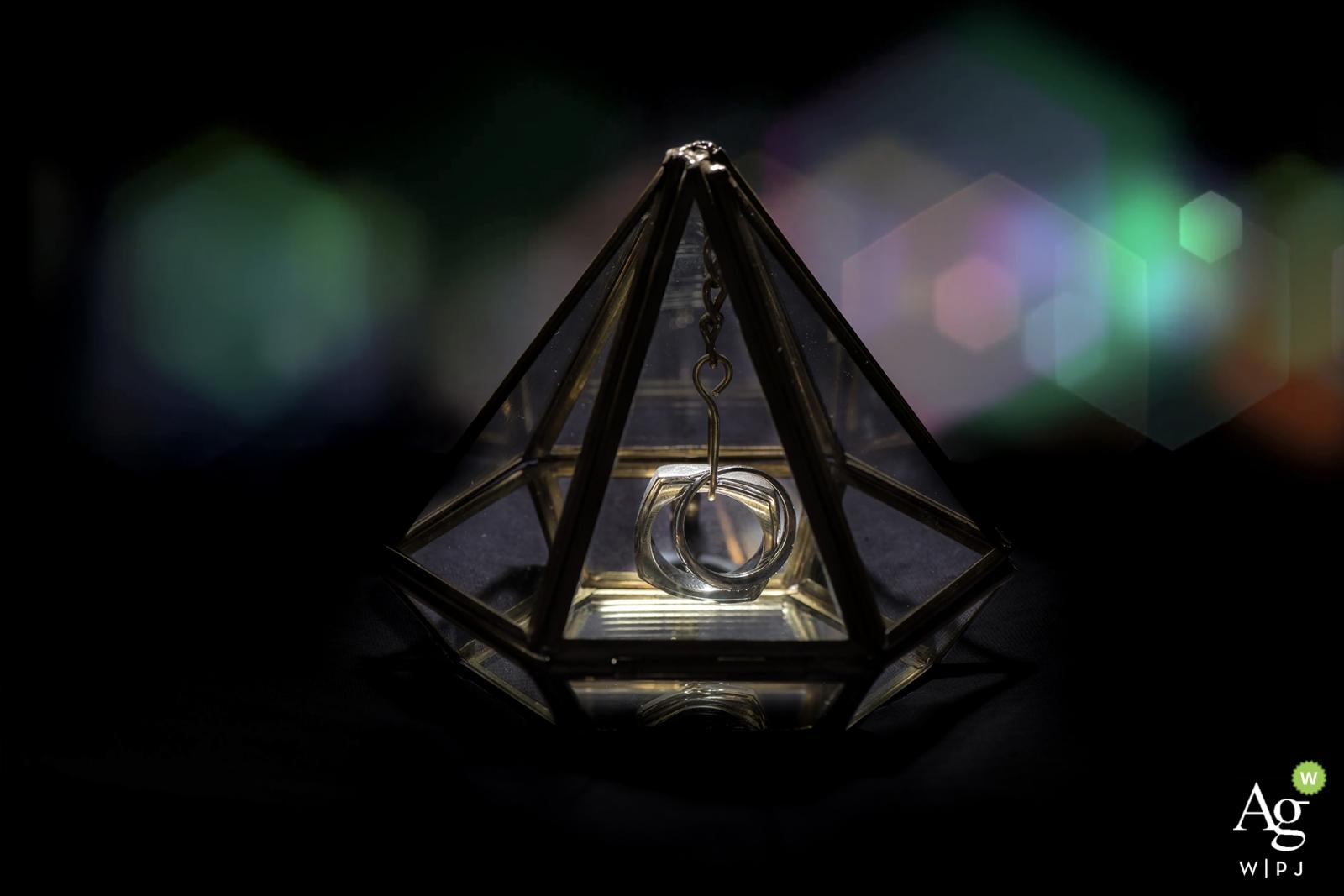 Dettaglio di fotografia artistica creativa di Florida di anelli