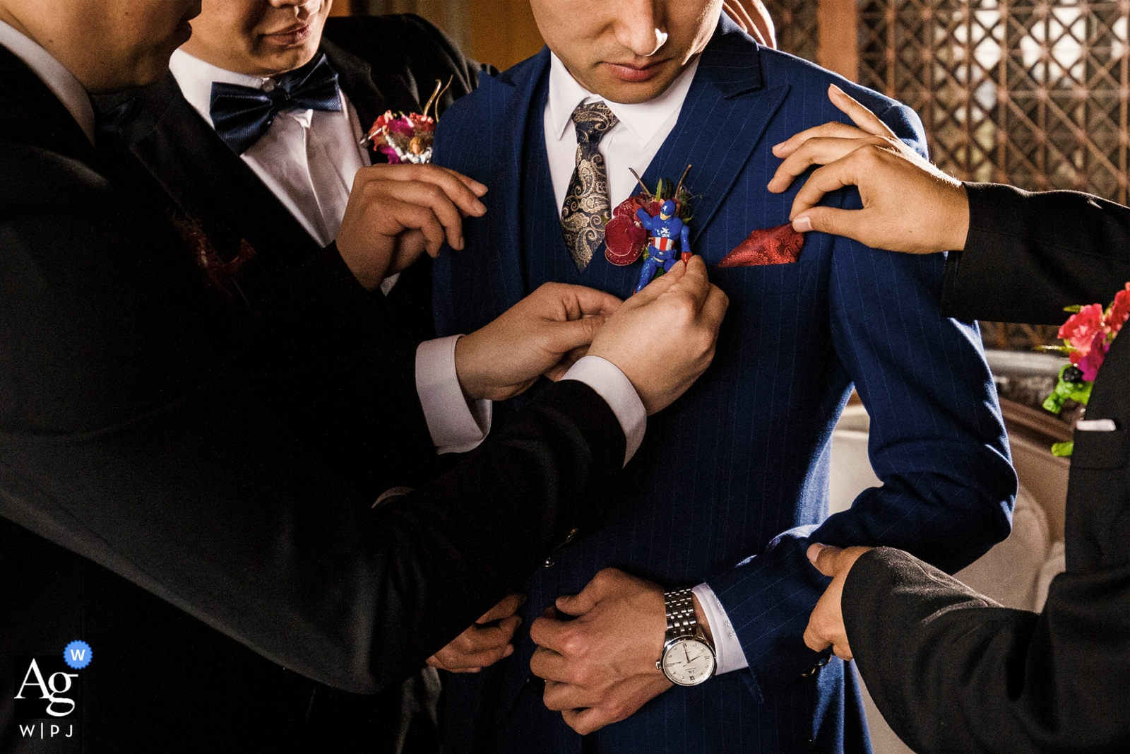 Groom getting ready for his China ceremony