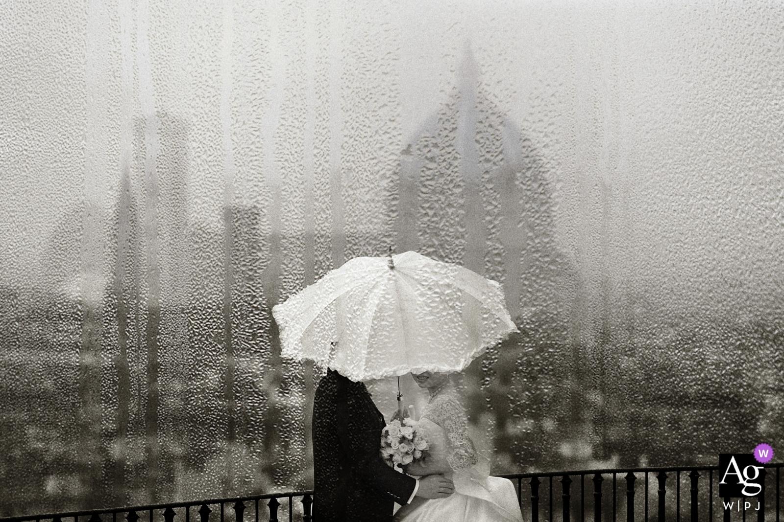 Villa Medici wedding date portraits | Rainy day in Florence | portrait photographer