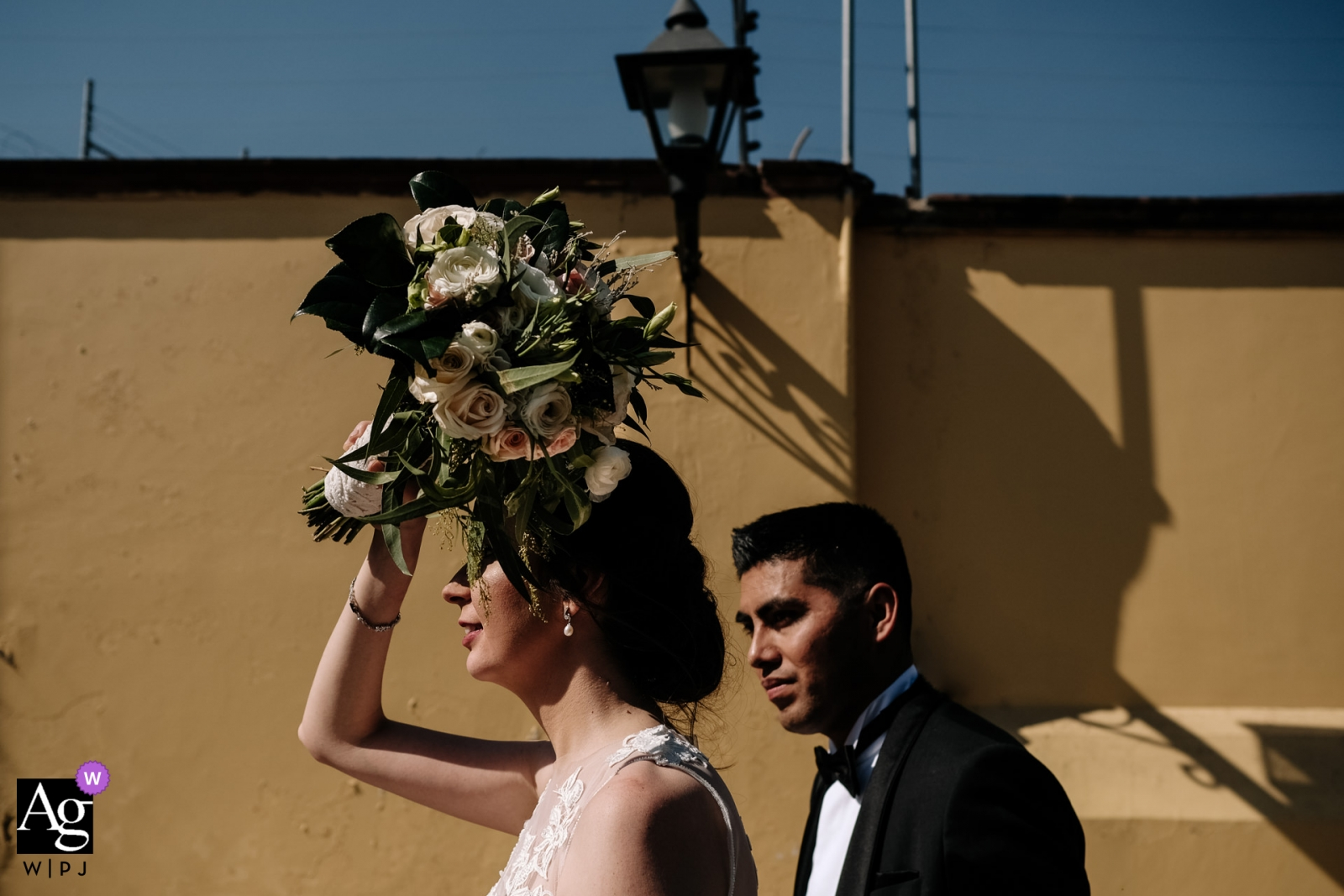 Bride and groom portraits in Oaxaca City - wedding photography for Mexico