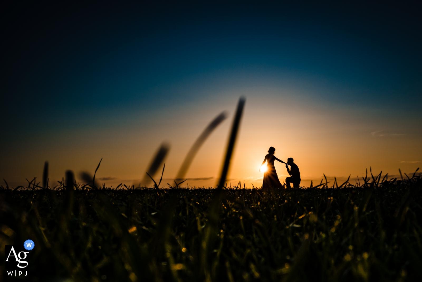 Garden Grove, CA Photographe portrait du jour du mariage la mariée et le marié dans le champ