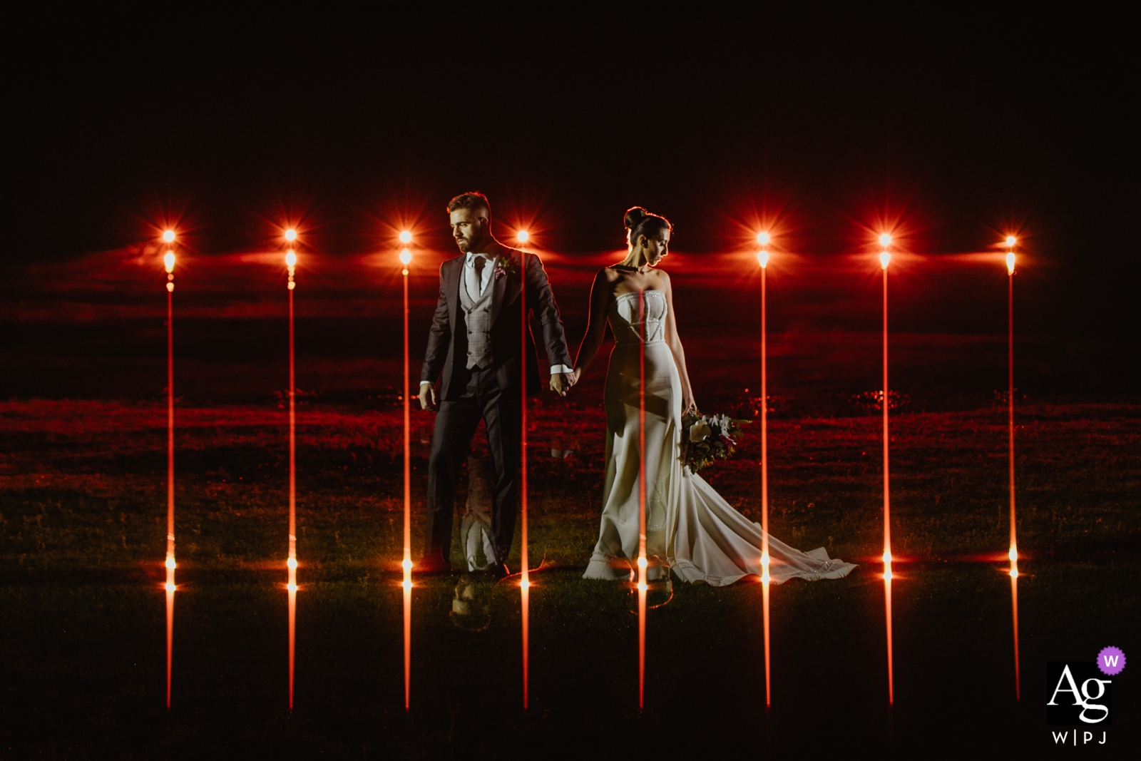 Villa Toscana - Bagé - Brasil  - couple with street lighting and reflex