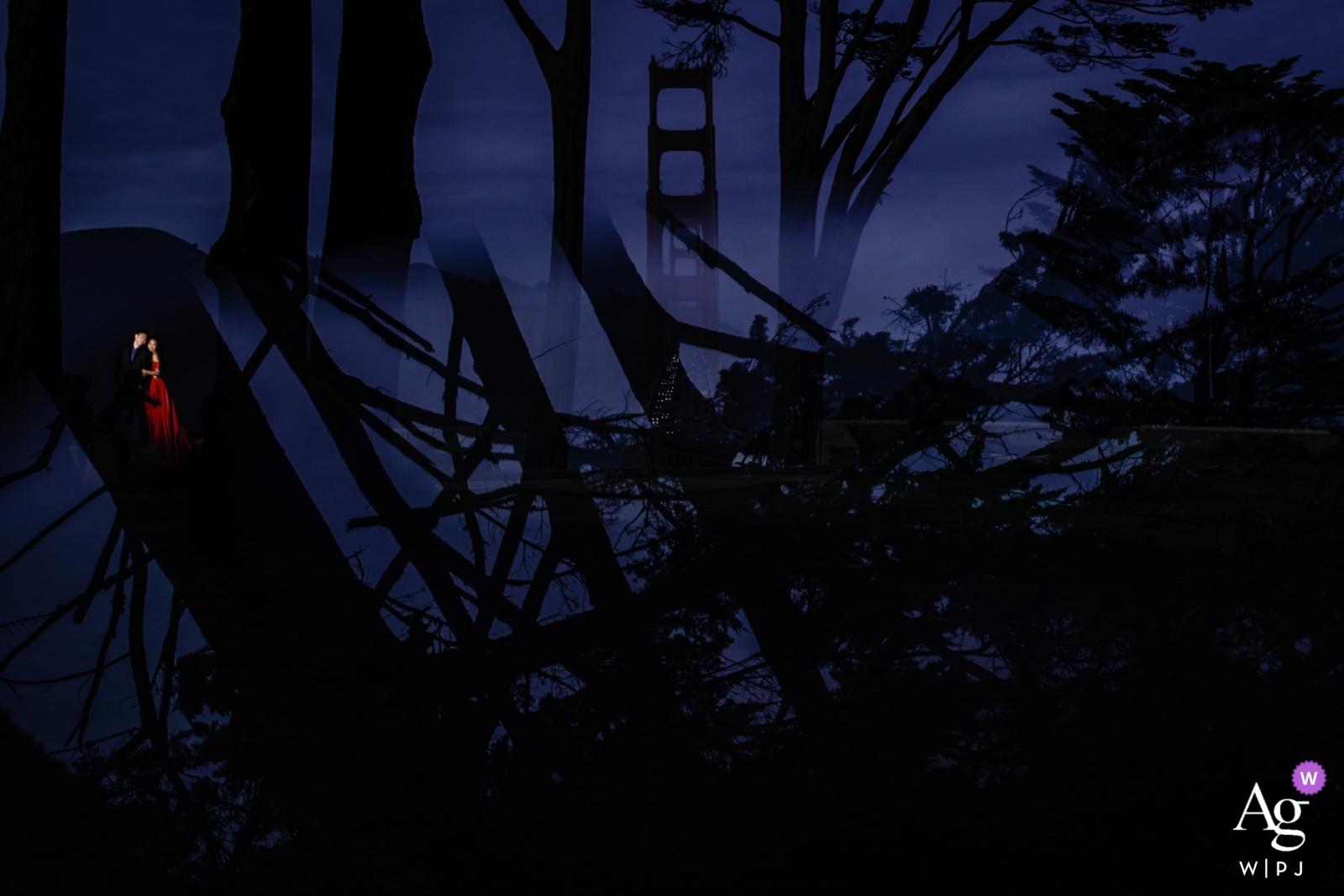 Fotografo della cerimonia di San Francisco - Scatto fotografico attraverso il vetro - non doppia esposizione