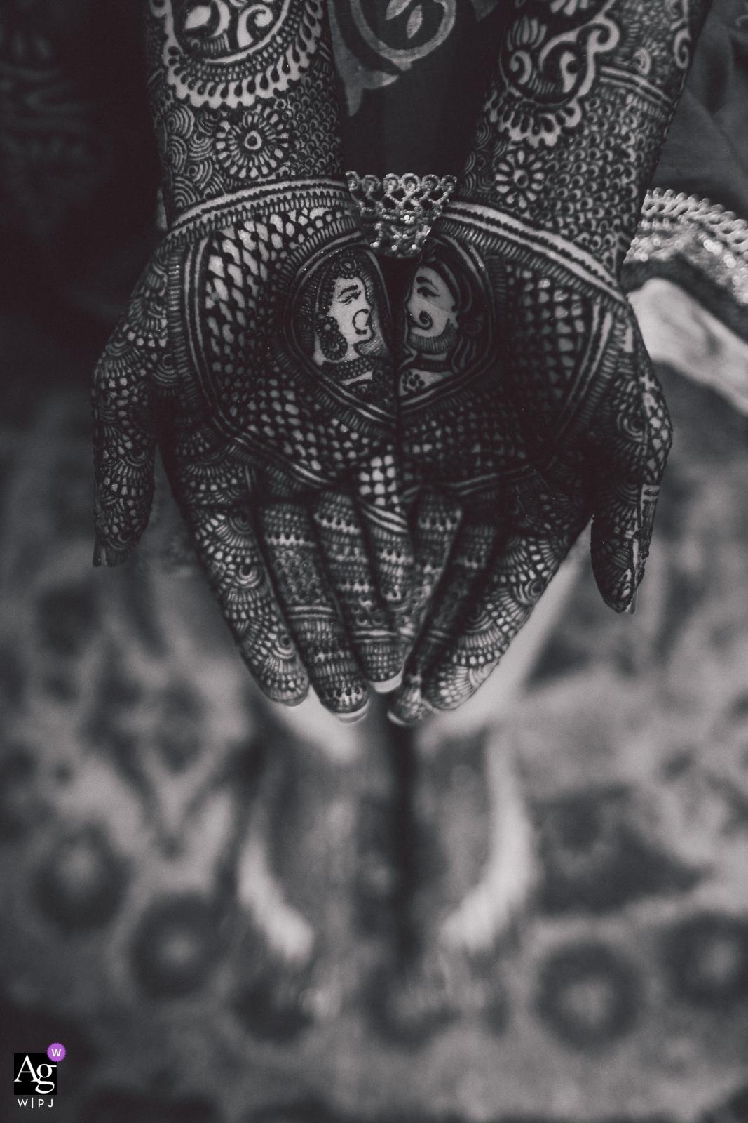 wedding photographer for San Jose, CA - hand henna artwork - Prince & Princess Mehndi