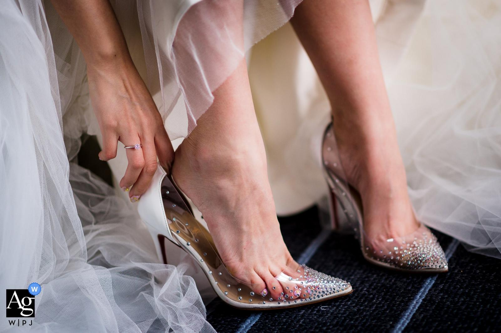 Da Nang wedding detail shot of The shoes