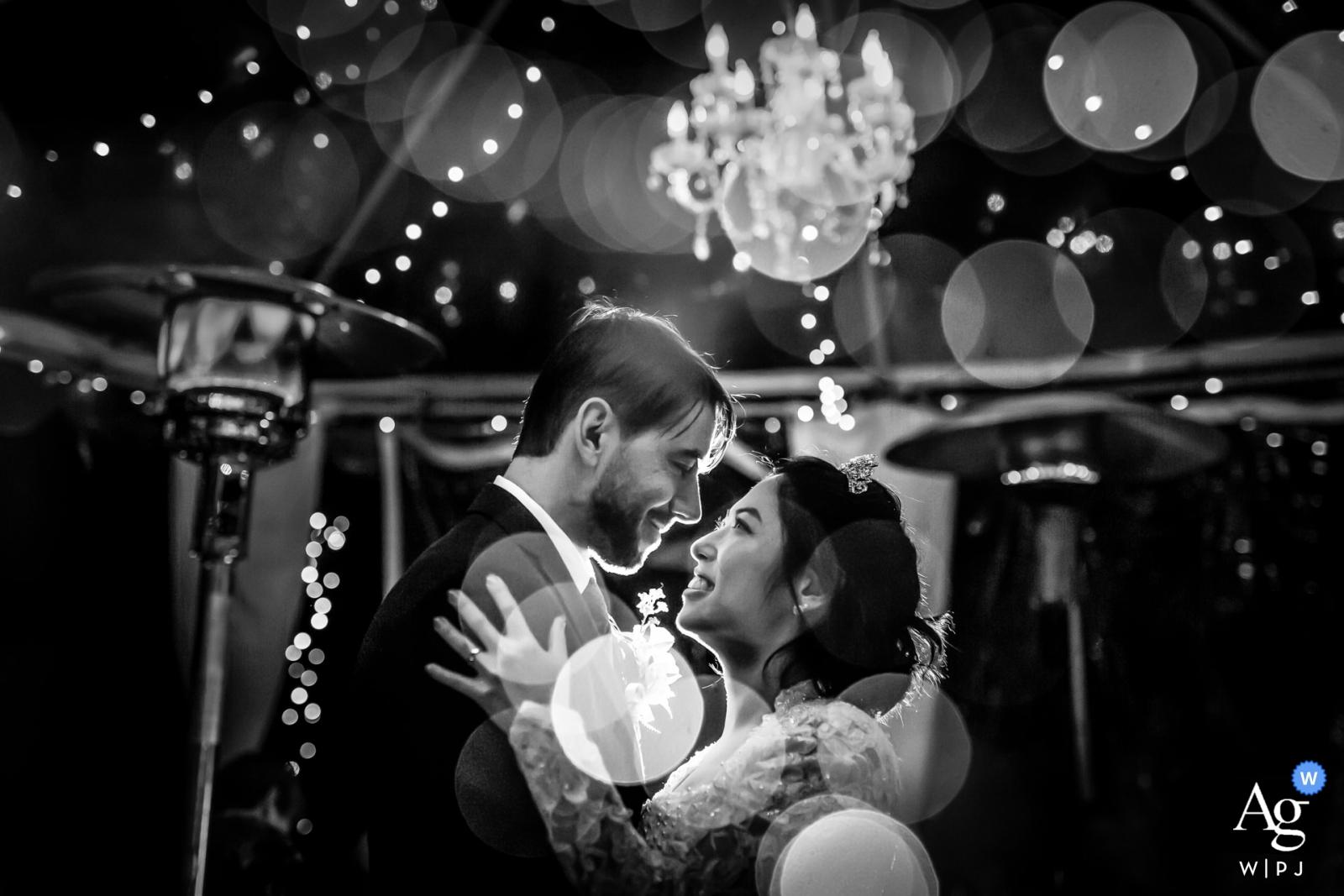 Inn of the Seventh Ray, Topanga, CA - Night Bokeh wedding photo from the dance floor