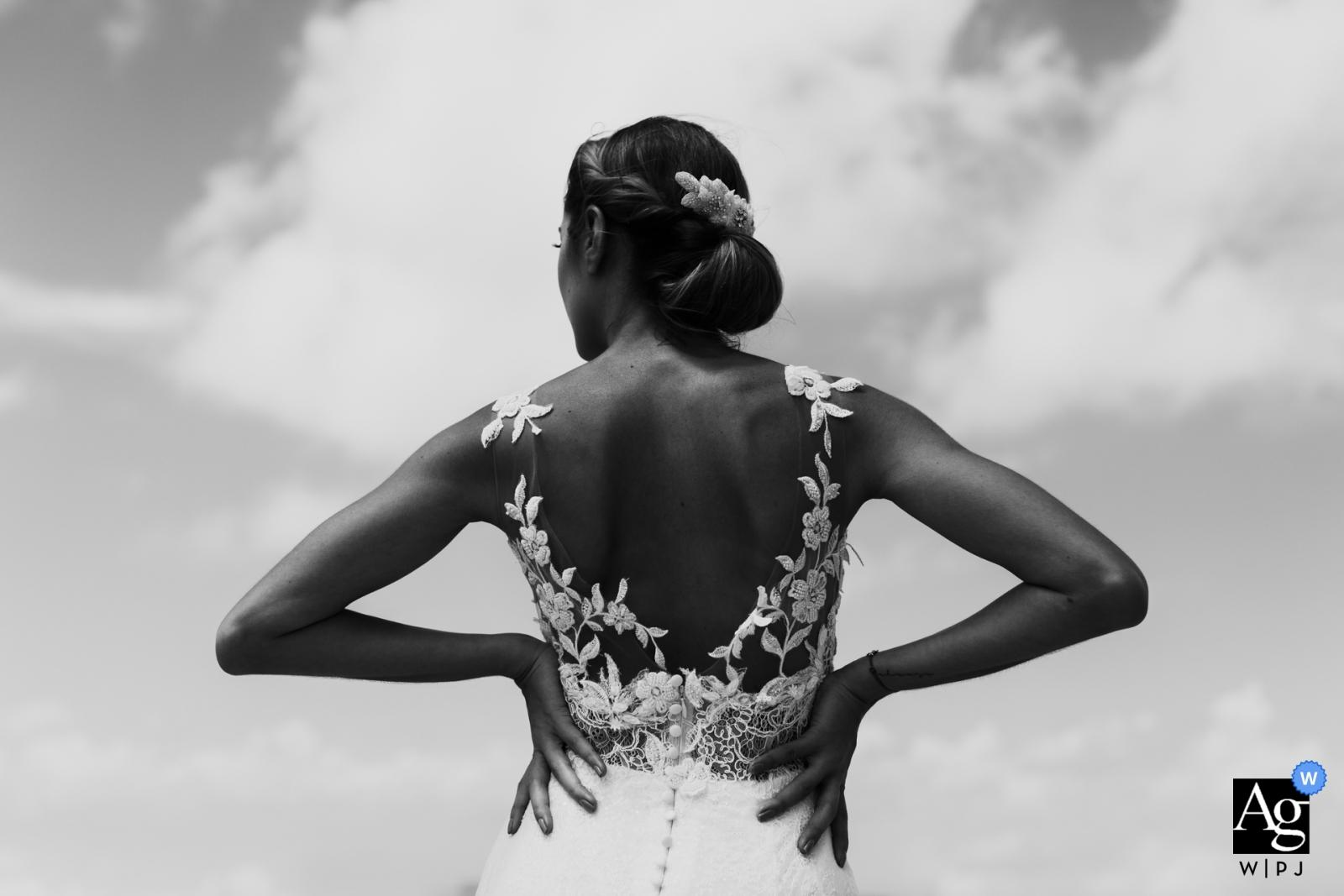 Key Biscayne, FL Photographie de mariage | Belle robe de mariée lors de quelques portraits de mariage