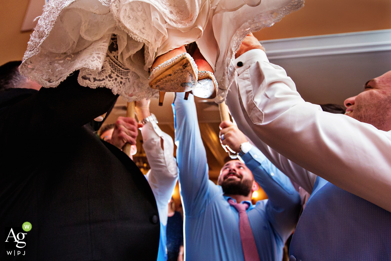 Bear Brook Valley New Jersey Wedding Venue Photo | The bride up in the air on chair