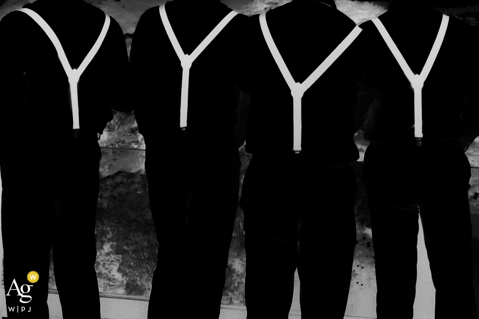 Cancun, Meksyk Zdjęcia ślubne - Szelki dla najlepszego mężczyzny w czerni i bieli