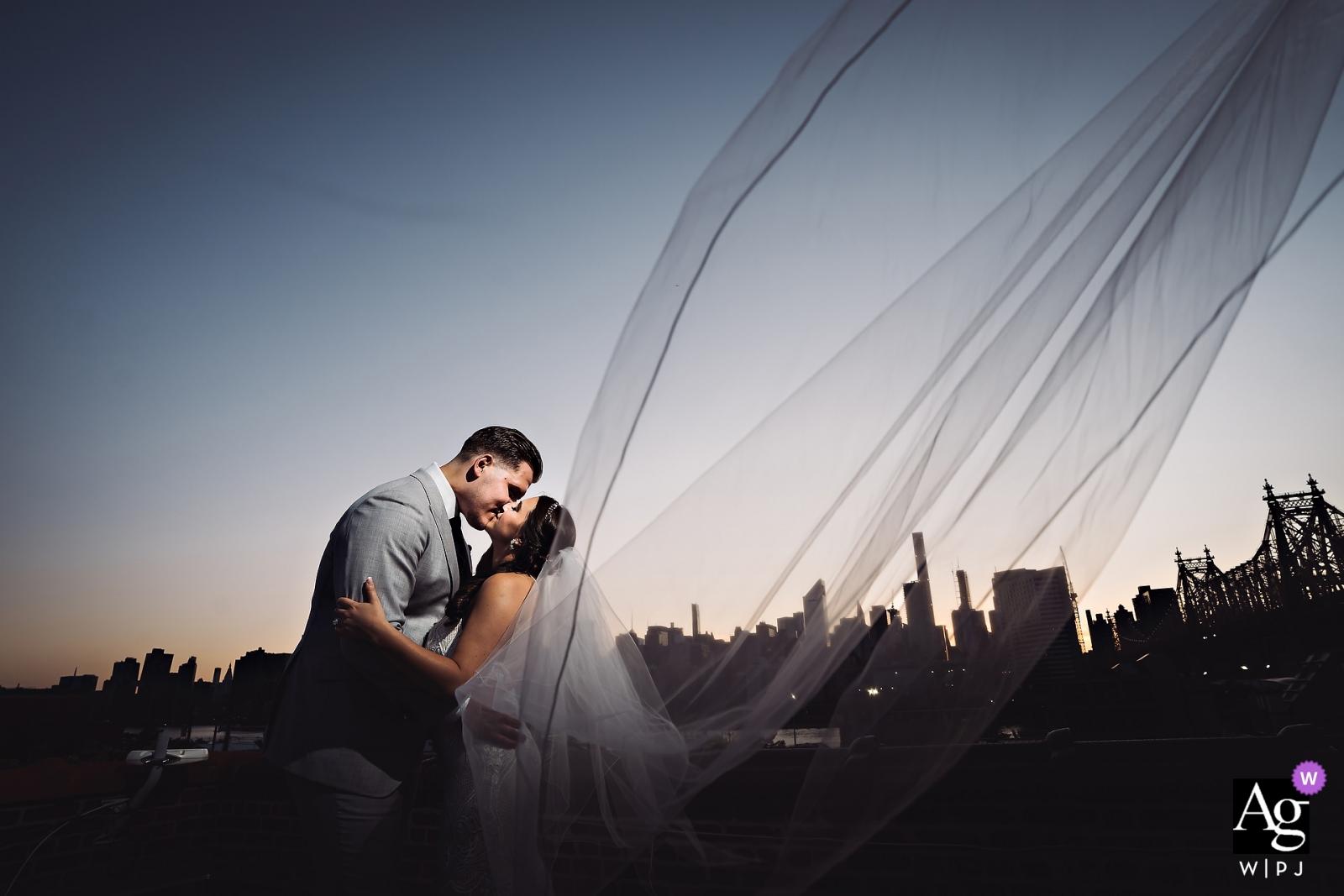 La fonderie - Mariages à New York - Portrait de jeunes mariés