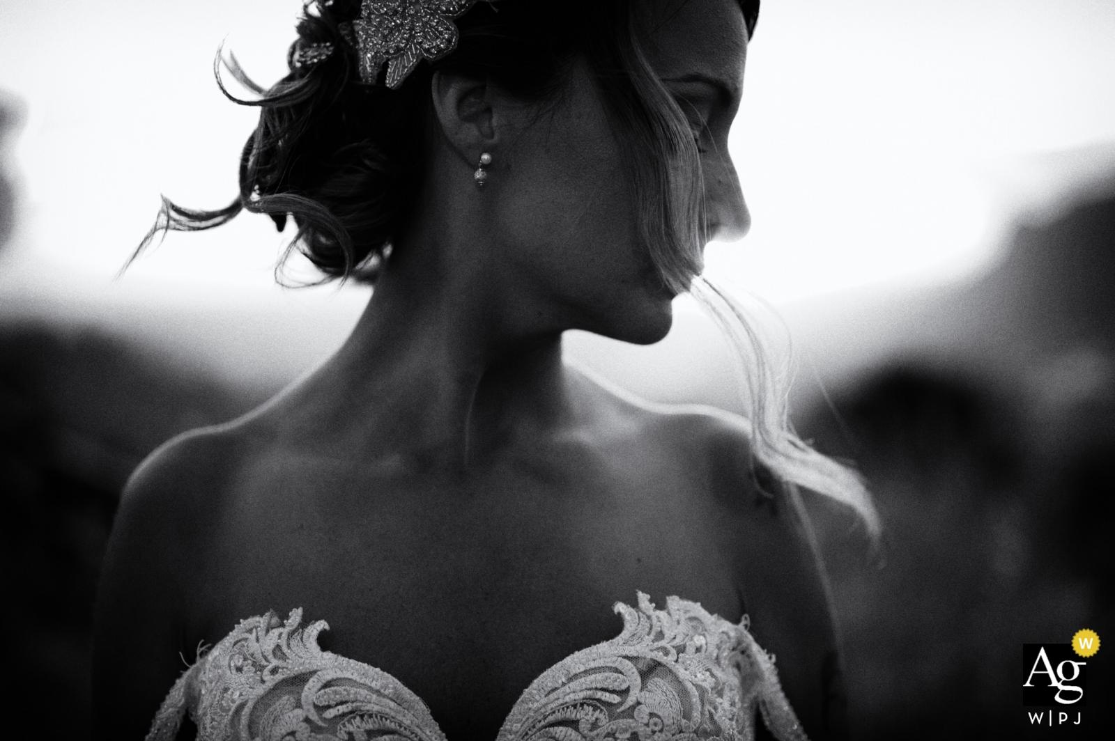 Terracina Włochy dnia ślubu portret panna młoda w dniu ślubu