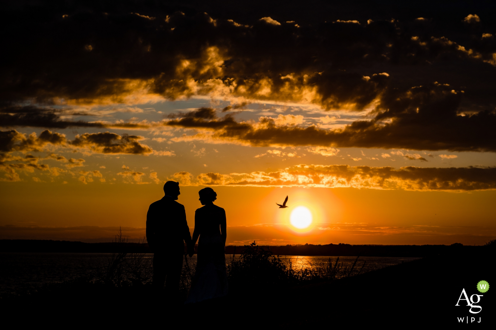 Warwick Country Club Sunset after a storm | Wedding Venue Photo of the Bride and Groom