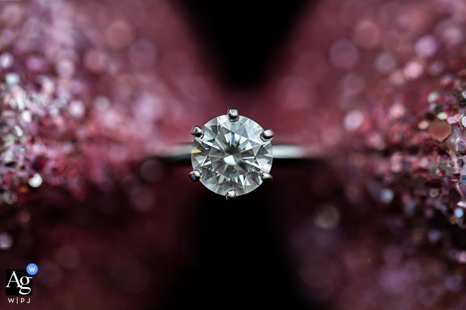 Shandong-Hochzeitsdetailphotographie eines Ringes