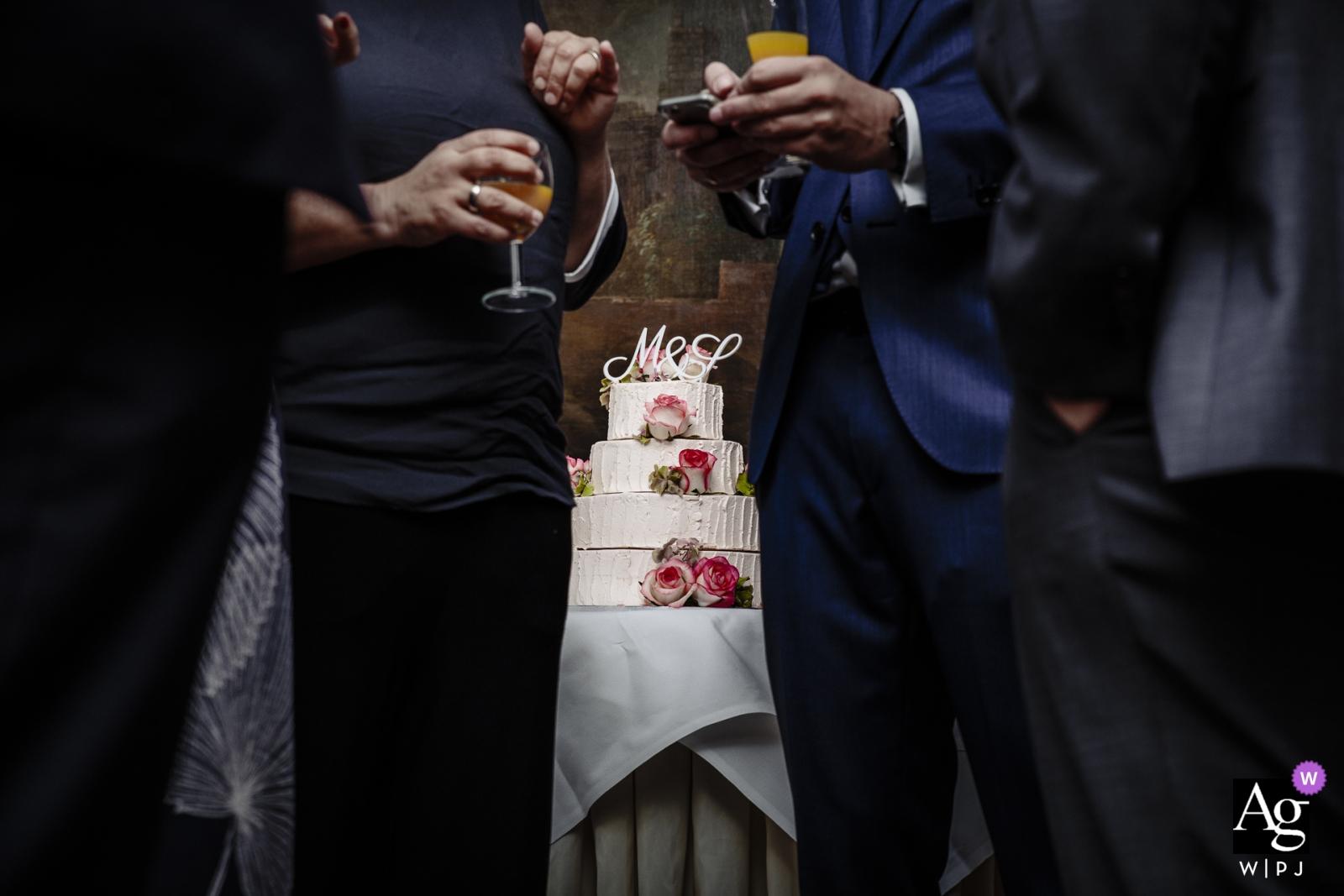Vaalsbroek Wedding Détail des boissons, des invités et du gâteau.