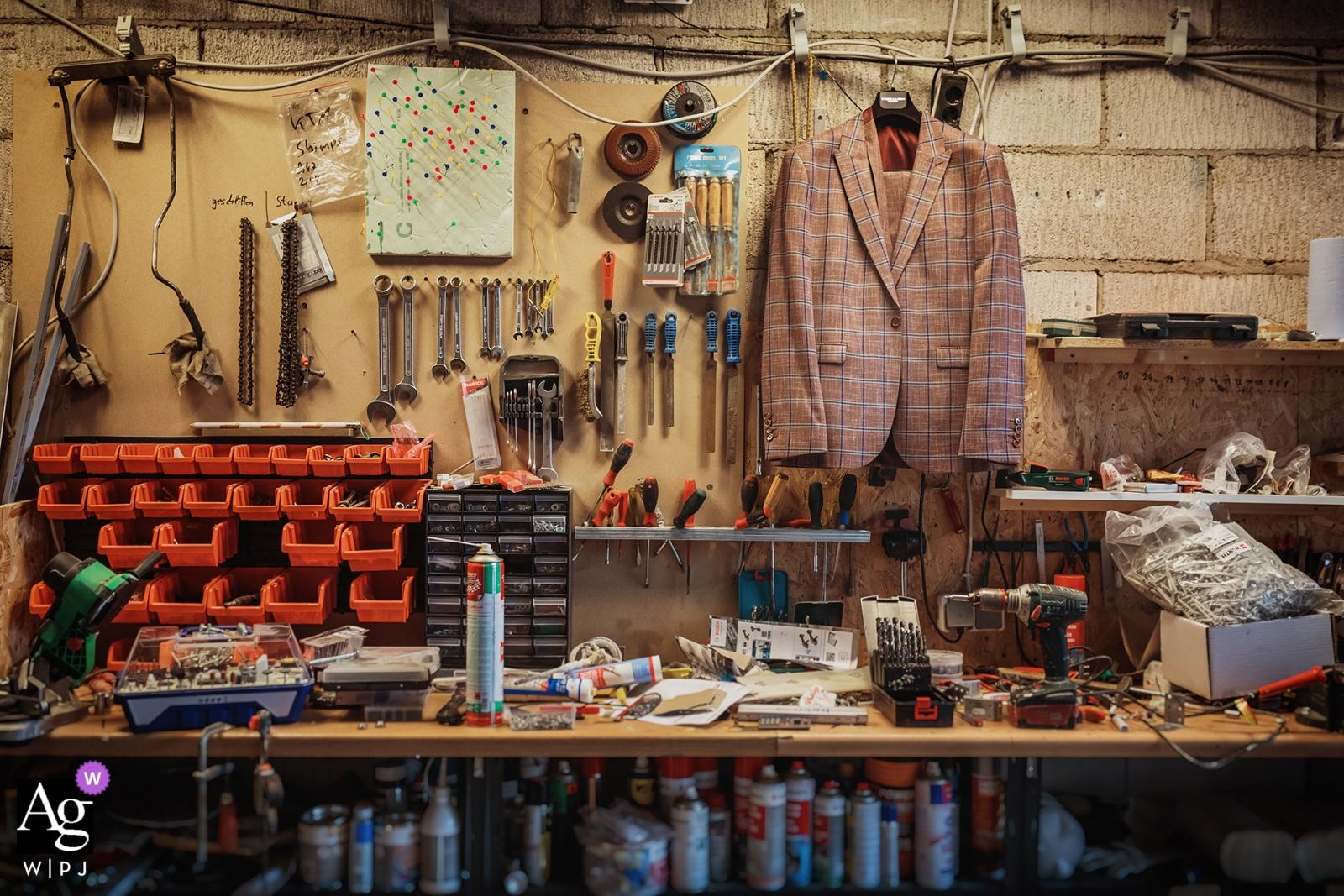 Kamen photo de détail de la veste dans l'atelier