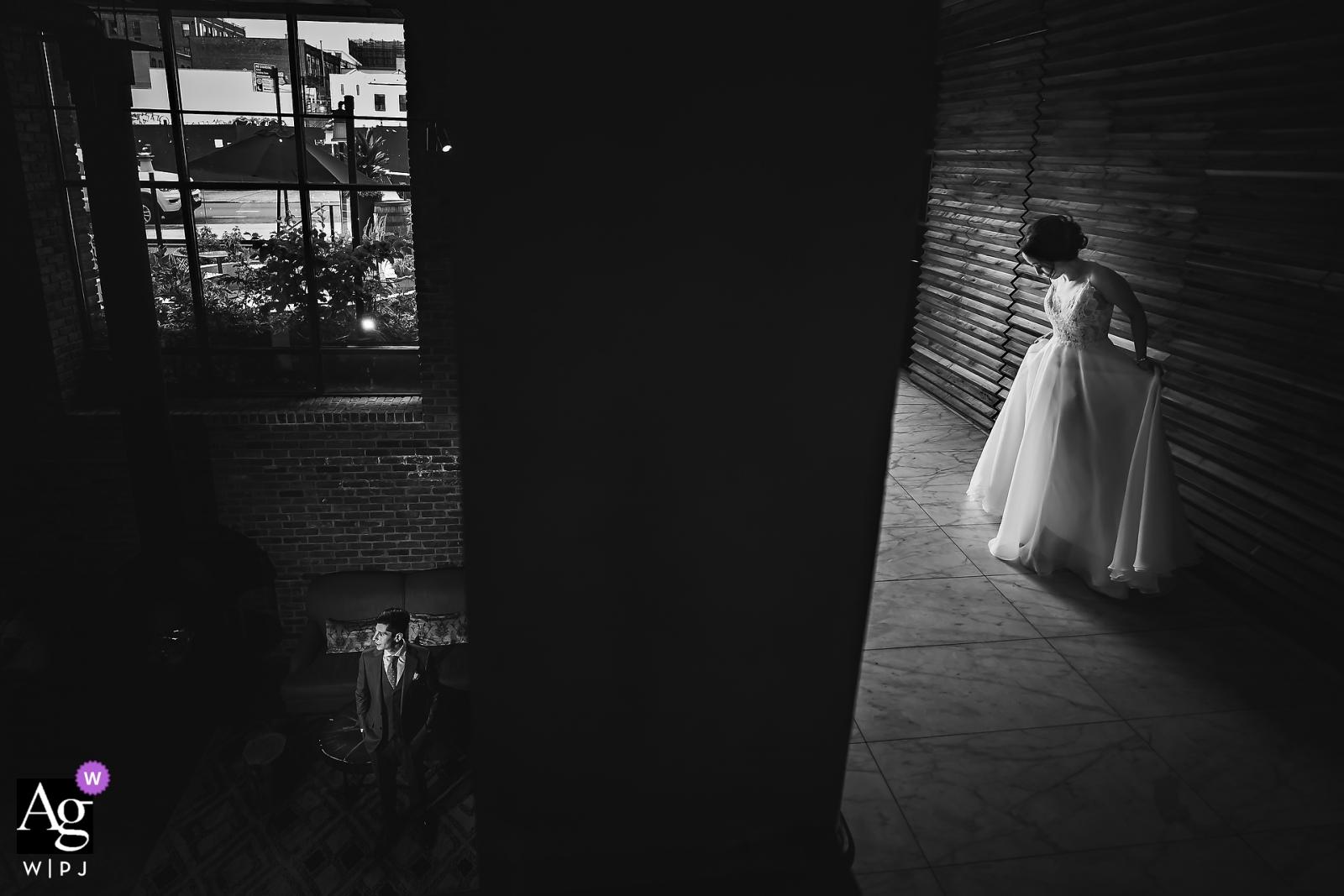 The Williamsburg Hotel, Brooklyn, New York wedding photographer – Bride & Groom portrait