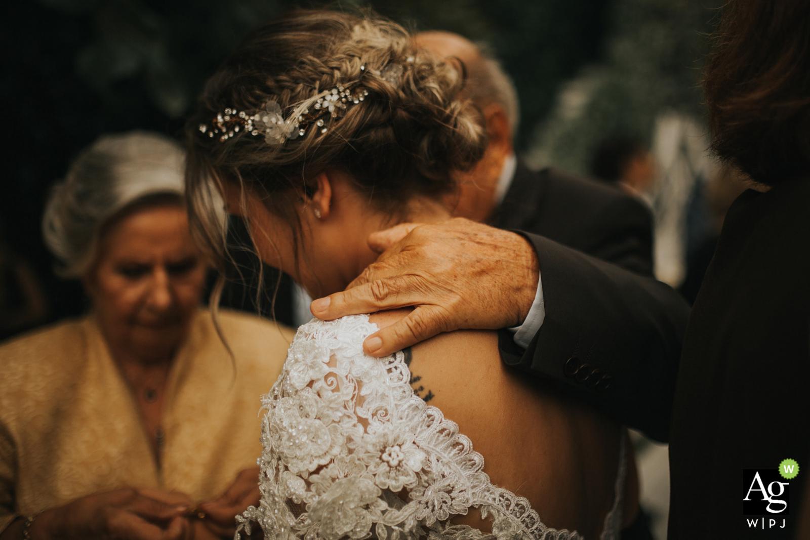 ceremony location: kuzguncuk yanık mektep, istanbul - photo of the hand of the bride's grandpa