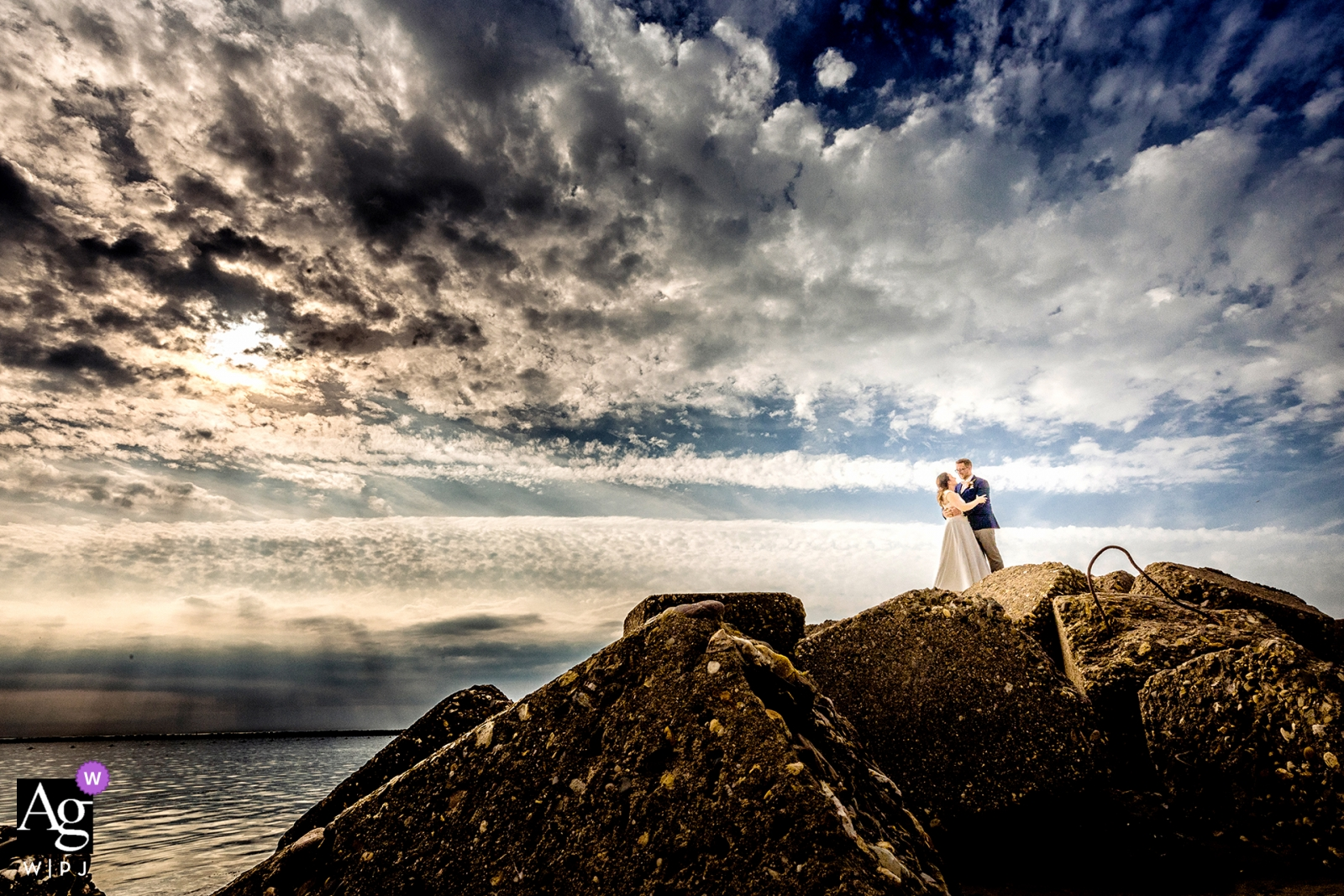 Brouwersdam Beach Netherlands wedding portraits: you, me and nature