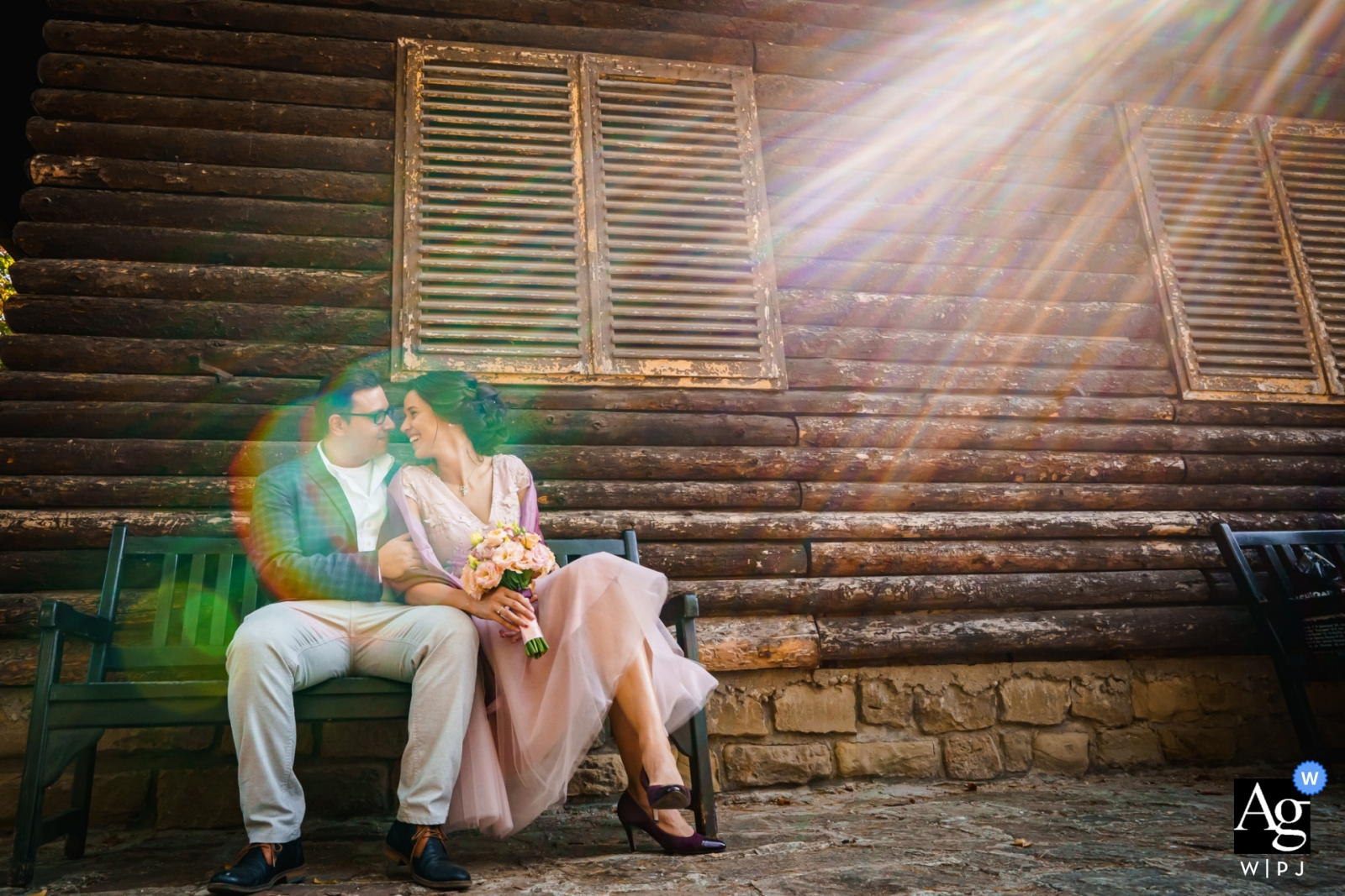 Vrana park and residence   Portrait of the Couple with Love and Sunshine