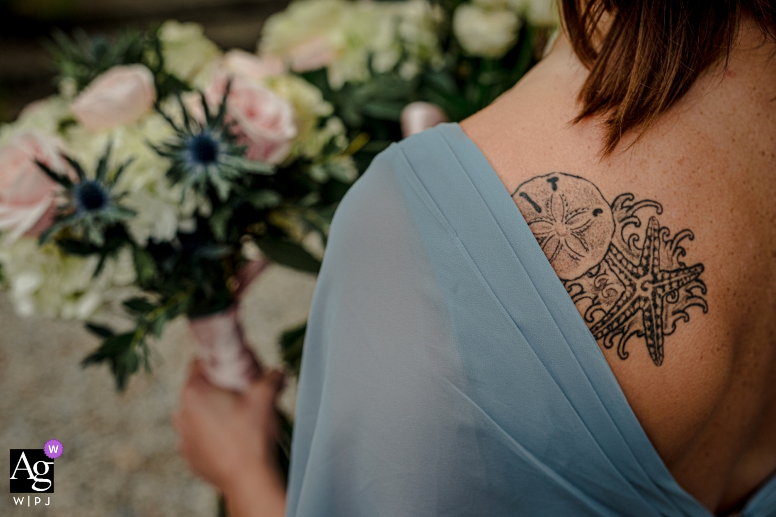 Chateau de Queille, France | Wedding flowers in your hands and on your back