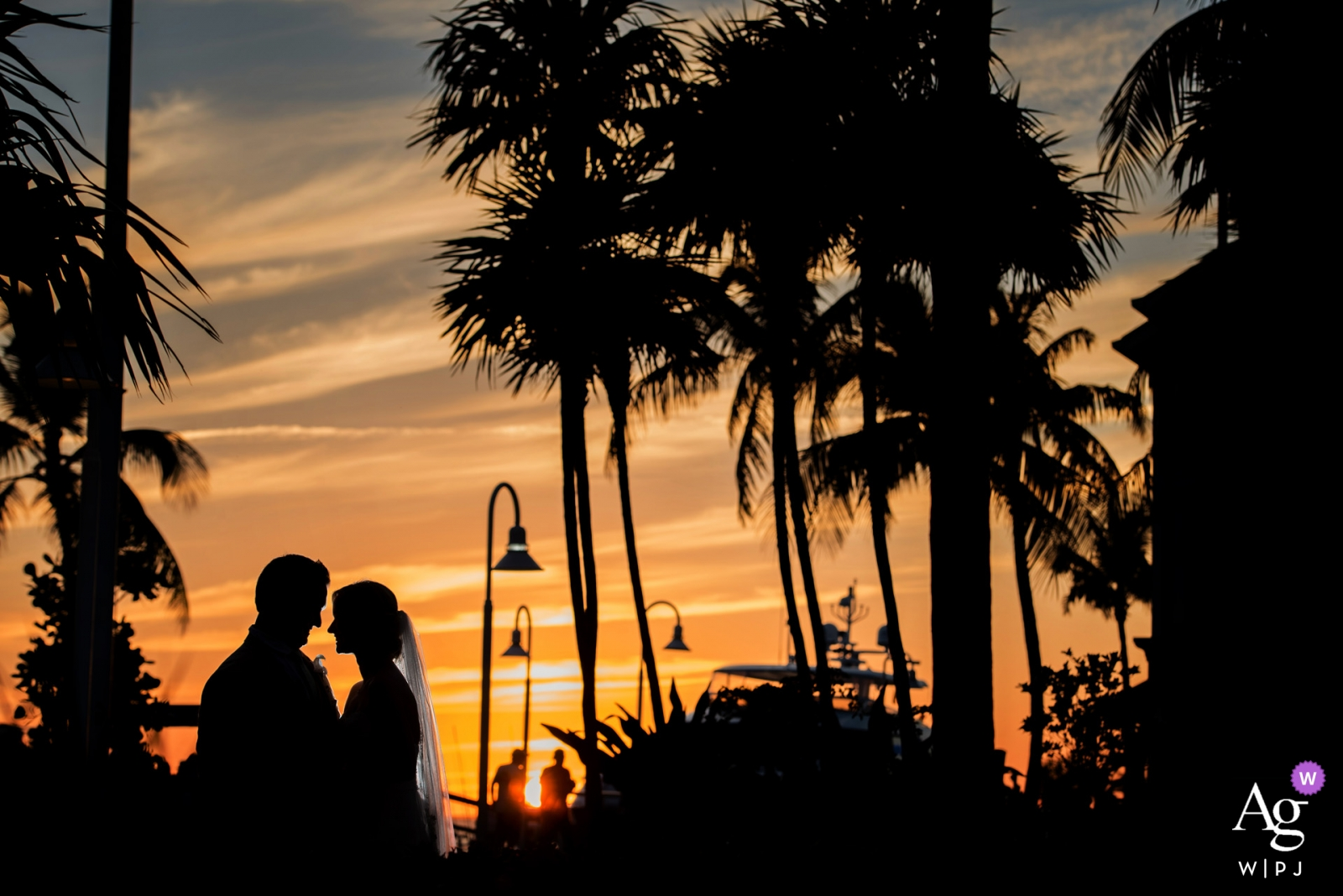 Westin Key West   Sunset Beauty Creative Portrait at Sunset of the Bride and Groom