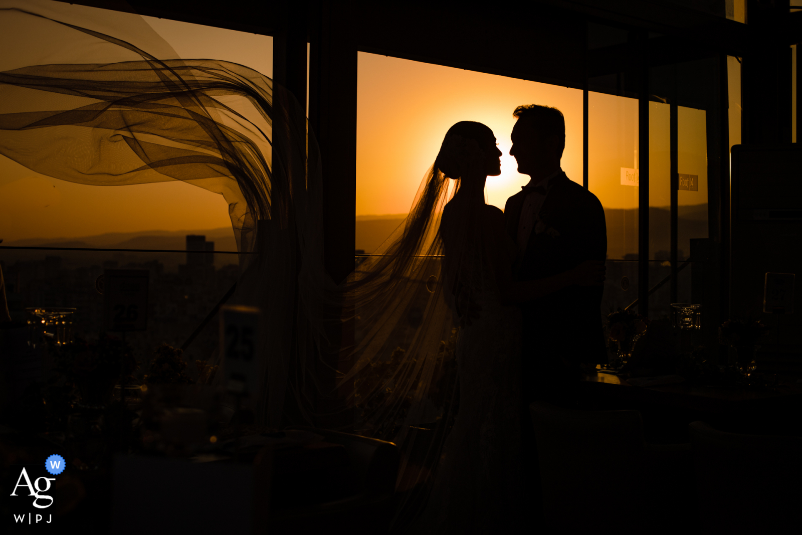 Mersin Divan Hotel Turkey Couple posing in the afternoon sunlight on the hotel roof during wedding picture session