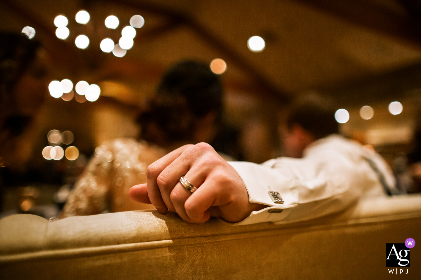 Artistic wedding photo from California, Napa - Finally a relaxing time for the newlywed