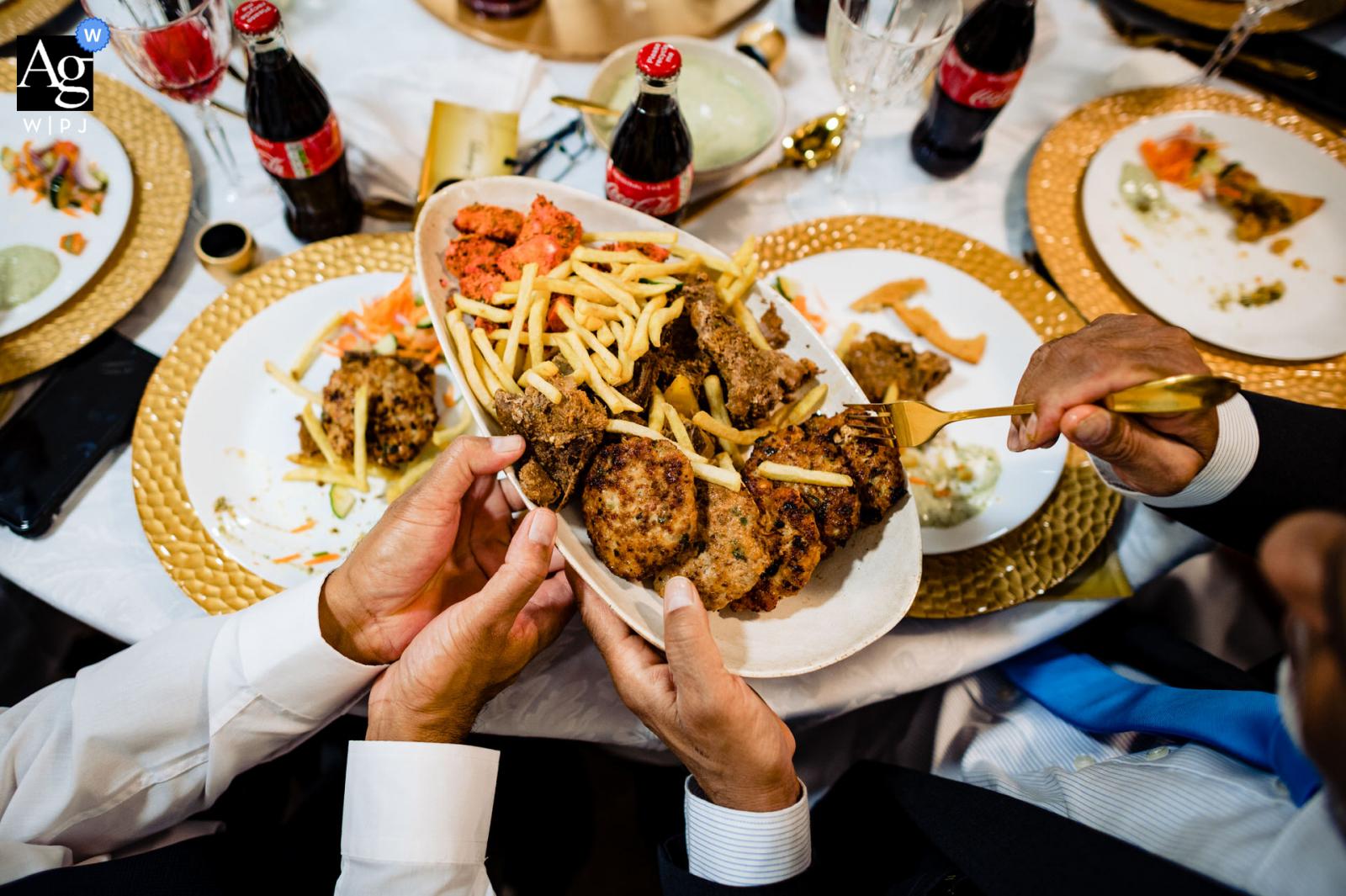 Birmingham, UK Muslim wedding table/food detail photo