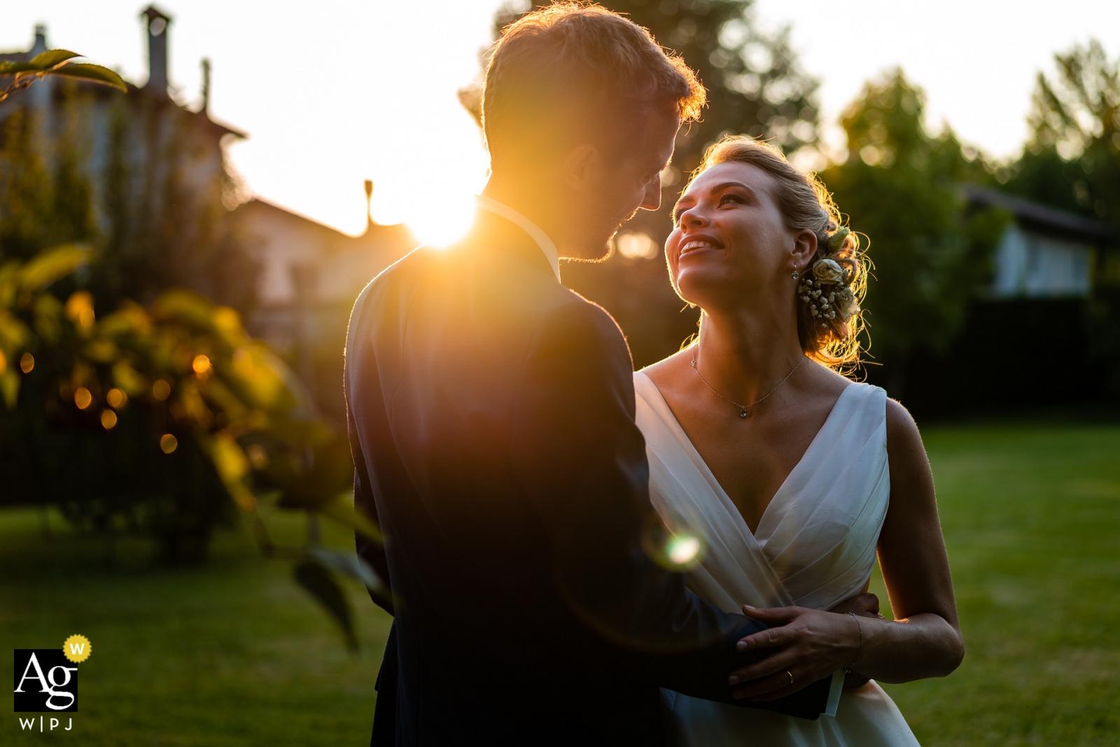 Castello di Strassoldo, Cervignano, Italy creative natural sunlight wedding portrait