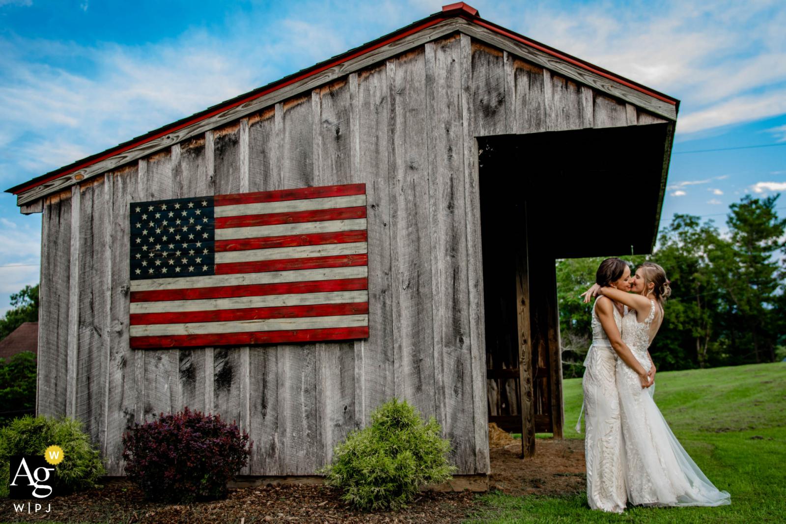 Artistic wedding photo from a Virginia Backyard Wedding