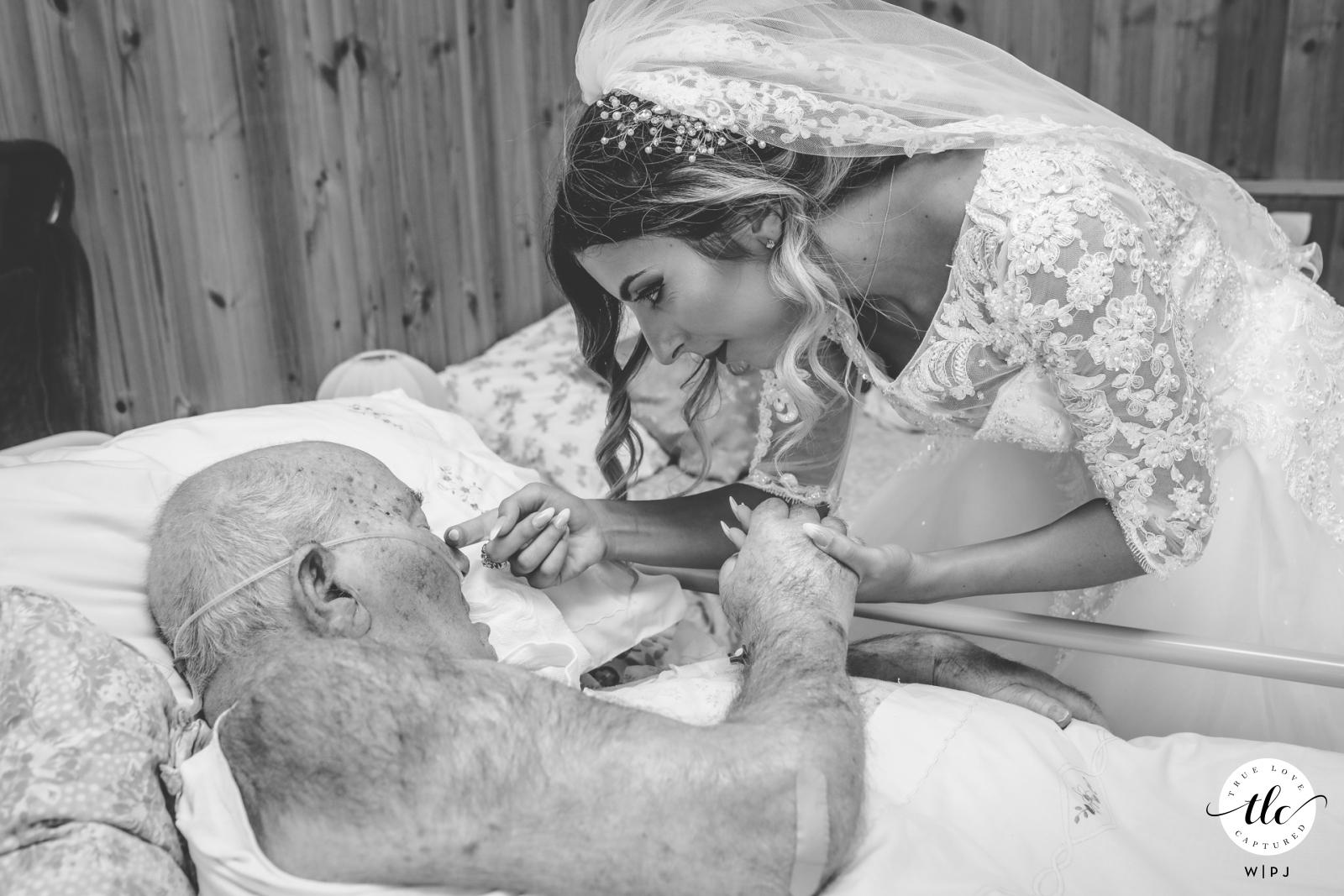 pachino última foto del abuelo con la novia que estaba de visita