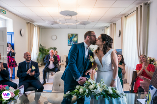 Professional Photographers in Orléans for the best Elopement Images | despite these times of troubles they decided to still maintain a civilian union in Orleans, France in mid-July