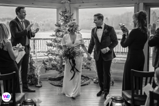 Wedding Photography for Catskill, NY | The couple celebrate the joyful moment that they are finally married