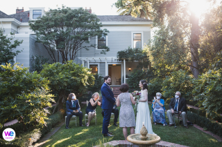 Gamble Garden, Palo Alto Wedding Photography | The ceremony site was in the main garden