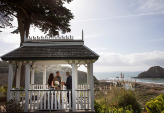 Joyce Perlman, of California, is a wedding photographer for Elk Cove Inn, Elk, CA
