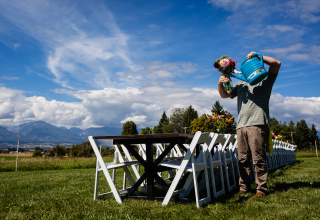 David Clumpner, of Montana, is a wedding photographer for