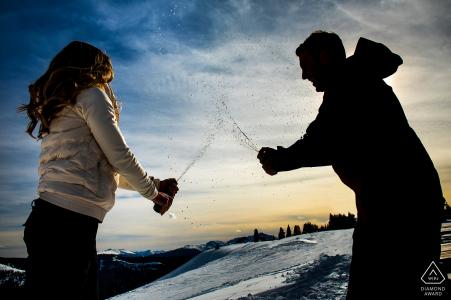 Winter portrait session by a Boulder, CO Engagement Photographer