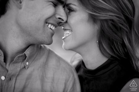 Tight portrait of Phoenix Arizona couple for their Engagement Photos