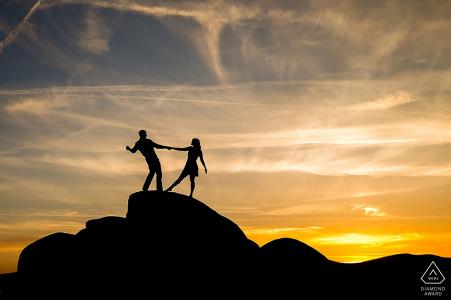 séance de photographie pré-mariage au lac Tahoe