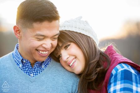 session d'engagement d'hiver | nj photographie de mariage et fiançailles