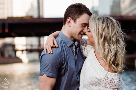 Chicago engagement portrait shoot