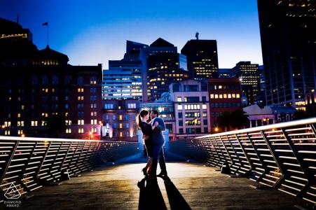 A San Francisco urban engagement photo shoot session of a couple   California photographer