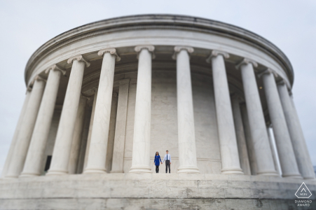 A DC couple during their pre-wedding portrait session by Washington photographer