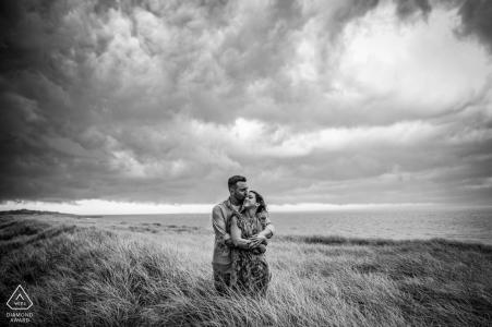 Baltimore black & white wedding engagement photos for Maryland couples