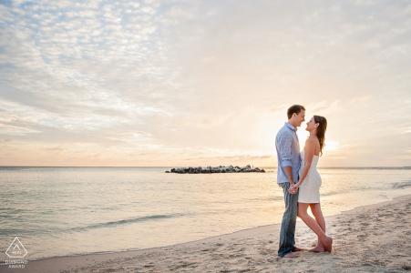 Florida destination wedding photographer for Key West engagement session photoshoot at the beach
