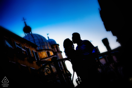 Wedding engagement photography in Italy by Venice engagement photographers
